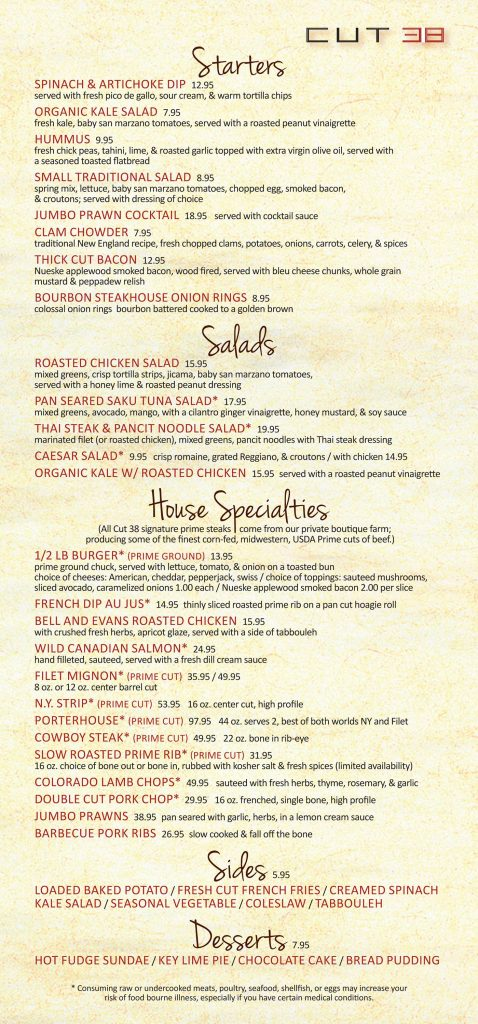 Cut 38 Steakhouse