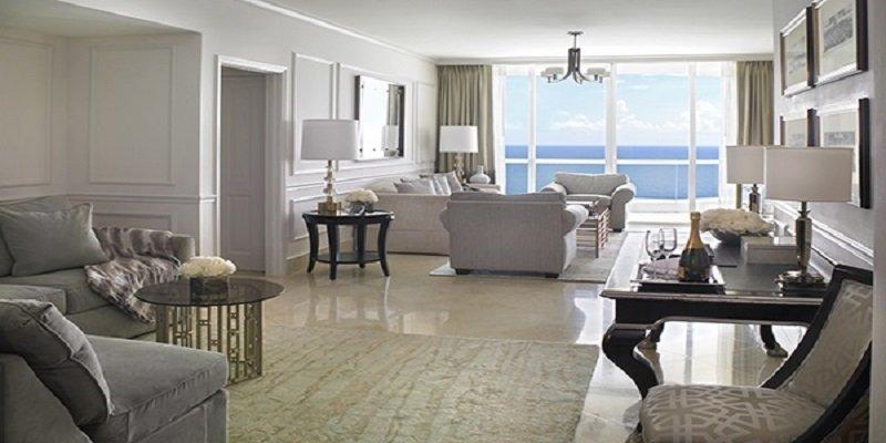 Acqualina Resort in Sunny Isles Beach Deluxe Three-bedroom Oceanfront Hotel Suite